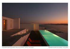 Front entrance of The Edge Summer House on Paros, Greece by React Architects Mykonos, Santorini, Luxury Villa, The Great Outdoors, Architecture Design, Landscape Architecture, Beautiful Homes, Swimming Pools, Summer Houses