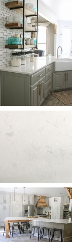 xCambria Quartz countertops in Swanbridge... Looks like marble, but nonporous and maintenance free!