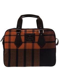 VIVIENNE WESTWOOD Tartan Briefcase