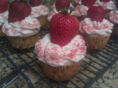 Strawberry Margarita Cupcakes with Strawberry Buttercream Frosting