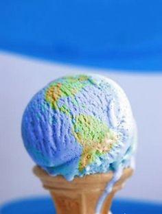 map of the world ice cream
