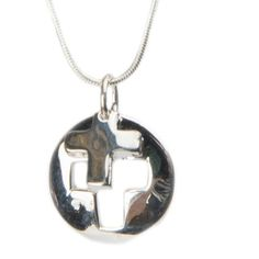 Buy Designer Silver Cross Necklace at The House of Awareness for only $ 38.00