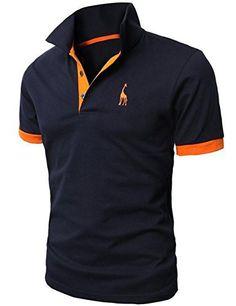 Buy Men's Fashion Personality Cultivating Short-sleeved Shirt POLO at Wish - Shopping Made Fun Slim Fit Polo Shirts, Polo T Shirts, Casual Shirts For Men, Men Casual, Smart Casual, Formal Casual, Cotton Shirts, Polo Sport, Giraffe Shirt