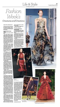 Fashion Week's Creatures and Creations|Epoch Times #newspaper #editorialdesign