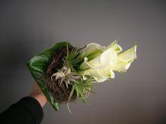 bruidsboeket - wit, aronskelk en tylasia falenopsis boechout