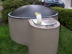 1 day of compost = two propane tanks for the bbq. As a propane user, this is a must! I so want one! The builder told me that is you have one cow, the manure from one day is enough for most home use. Heck-even as an outhouse it would work!