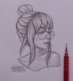 Teressa - Day by AngelGanev on DeviantArt Cute Sketches, Girl Drawing Sketches, Girly Drawings, Art Drawings Sketches Simple, Pencil Art Drawings, Beautiful Drawings, Pretty Drawings, Drawing Art, Drawing People