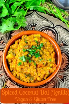 Coconut dal curry