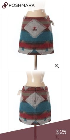 """🆕 American Eagle Out Blue Native Wool Blend Skirt Brand new with tags! Thank you for looking! 15"""" length. 8% Wool 44% polyester American Eagle Outfitters Skirts Pencil"""