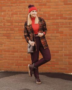 Red and burgundy color combination   For more style inspiration visit 40plusstyle.com