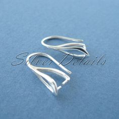 Sterling Silver French Ear Wires Hooks with Pinch by SilverDetails, $5.90