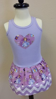 Sofia the First Dress. Princess Sofia by GraceMadisonDesigns, $23.00