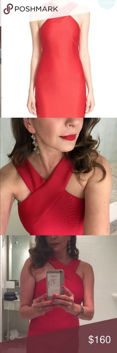 TED BAKER RED ERSKINE SNAKE EMBOSSED JACQUARD TED BAKER LONDON RED ERSKINE SNAKE EMBOSSED JACQUARD DRESS 3 ( US 8) $279. Impeccable condition. Ted Baker London Dresses Maxi