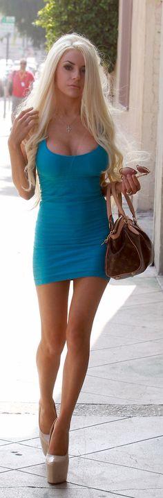 Long sexy legs under sexy short dress