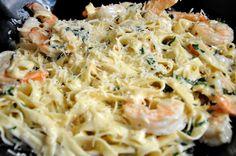 Shrimp Fettucinni Alfredo - The Candid Appetite