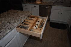 New larger two tier cutlery drawer!