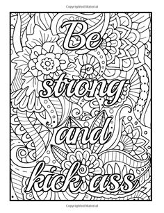 mindful colouring page for adults and teens - Inspirational Word Coloring Pages