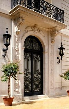Architect Maurice Fatio Designed French Chateau Home - Preston Hollow ~ Beautiful Doors Windows And Doors, Exterior Design, French Doors, Door Design, Wrought Iron Doors, Front Door, French Architecture, Doors, House Exterior