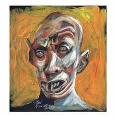 Nosferatu acrylic on paper by Roni Kane