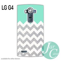 Blue Silver Glitter Chevron Phone case for LG G4 and other cases