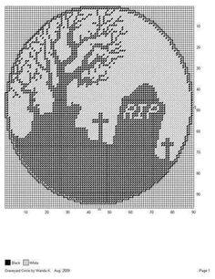 GRAVEYARD CIRCLE by WANDA K. -- WALL HANGING