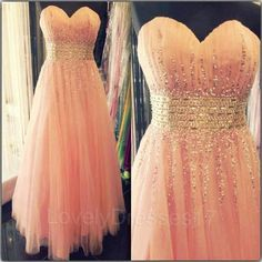 Shiny Sequins Pearl Pink Ball Gown Sweetheart Neckline Floor Length Prom/Wedding Party Dress