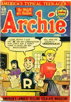 February 11, 1942 : Archie comic book debuts. As timely and funny then as it is ...