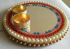 beautiful platter golden