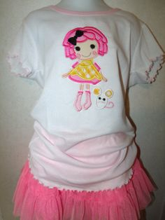 Lalaloopsy Sugar Crumb Doll Embroidered Onesie by rowanmayfairs, $27.00