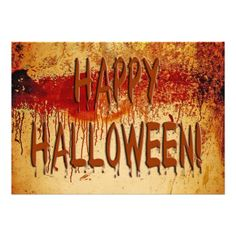 Halloween happy hour happy hour and party poster happy halloween blood stained wall invitation stopboris Images