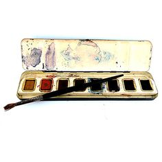 Watercolor Paint Box Vintage Metal Box Artist Watercolors... (€12) ❤ liked on Polyvore featuring home, home decor, wall art, fillers, backgrounds, other, art, art supplies, metal wall art and photo wall art