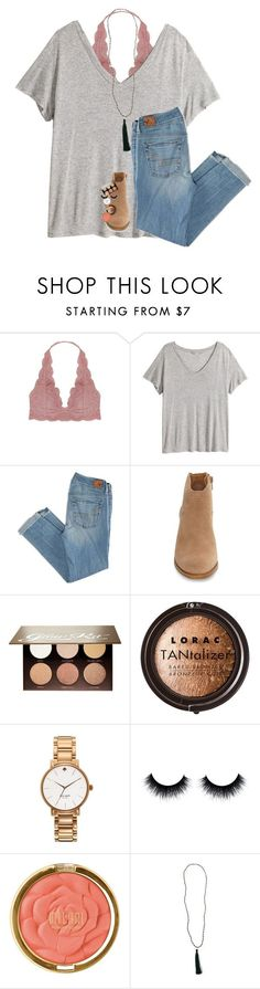 """broadway you are my life"" by lindsaygreys ❤ liked on Polyvore featuring Humble Chic, H&M, American Eagle Outfitters, Lucky Brand, Anastasia Beverly Hills, LORAC, Kate Spade, Milani and New Directions"
