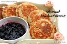 celozrnné kváskové lívance Czech Recipes, Korn, French Toast, Pancakes, Food And Drink, Sweets, Baking, Breakfast, Fit