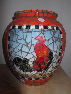 mozaiek vaas / mosaic vase by Linda van Deursen ..Sold