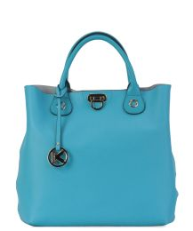 Niebieska torebka skórzana #Kazar