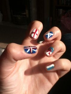 Olympic nails for the Olympics!!