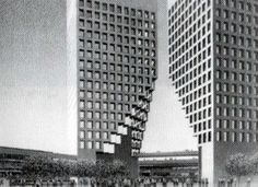 moshe safdie: gateway office complex, singapore (1980)