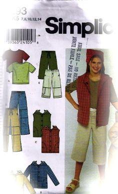 Butterick sewing pattern 6278 Enfants Garçons Haut Short Pantalon