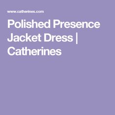 Polished Presence Jacket Dress | Catherines