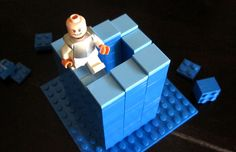 Lego Penrose stairs illusion, by R. Watson (inspired by M. C. Escher)