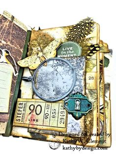 Eileen Hull Passport Mini with Kaisercraft Anthology Collection by Kathy Clement Photo 6
