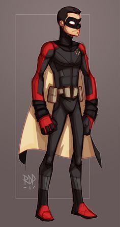 the second by samuraiblack on DeviantArt Superhero Art Projects, Superhero Design, Dc Comics Art, Marvel Dc Comics, Robin Suit, Robin Drawing, Batman Redesign, Robin And Raven, Robin Costume