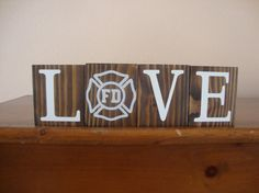 Firefighter Blocks. Firefighter Gift. by DeannasCraftCottage