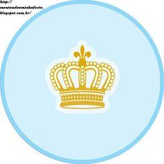 Montando minha festa: Kit digital gratuito para imprimir Coroa de Príncipe Azul!: Printable Labels, Printables, Little Prince Party, Kit Digital, Tent Cards, Letter Art, Baby Boutique, Goodie Bags, Christmas Baby