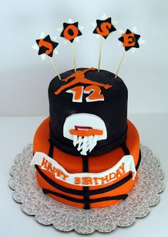 Round Chocolate Cake with Chocolate Filling Round Chocolate Cake with Chocolate Filling Covered in Rolled Vanilla and Chocola. Ball Theme Birthday, Boy Birthday Parties, 8th Birthday, Birthday Cakes, Chocolate Filling, Chocolate Cake, Basketball Birthday, Basketball Cakes, Sweet 16 Cakes