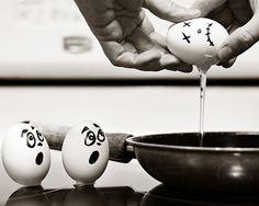 scared eggs! Good-bye Bob! kn
