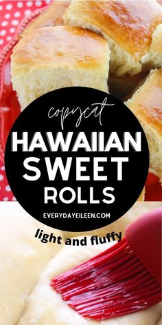 Hawaiian Sweet Roll Recipe produces light and fluffy rolls that are perfect as a side to any meal. These are perfect for homemade slider. This homemade copycat Hawaiian roll recipe is a crowd pleaser. We have also included a gluten-free option for you. #homemadehawaiianrolls #hawaiiansweetrolls #homemadesliderrolls #everydayeileen Copycat Recipes, Gf Recipes, Baking Recipes, Free Recipes, Easy Recipes, Dessert Recipes, Homemade Sliders, No Knead Bread, Yeast Bread
