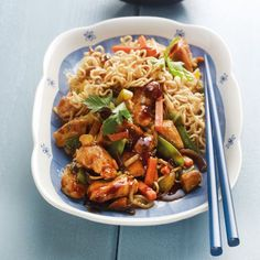 Asiapfanne mit Mie-Nudeln Rezepte | Weight Watchers