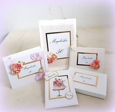 MagicArt / Lady 50tka Birthday Invitations, Place Cards, Place Card Holders, Lady
