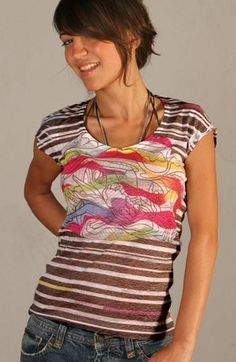 Black White Pink Yellow Red Women Tshirt Multi by nikacollection, $38.00